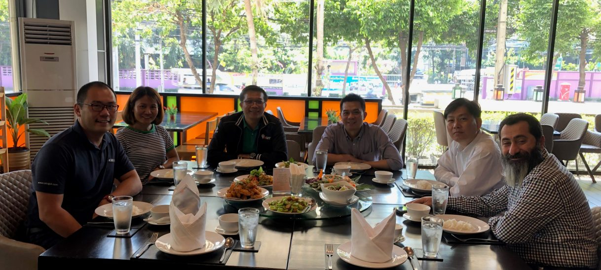 Welcome Mr. Jad Mishrekey from Jordan to Bangkok