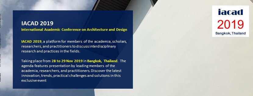 International Academic Conference on Architecture and Design (IACAD)